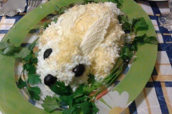 Салат кролик фото
