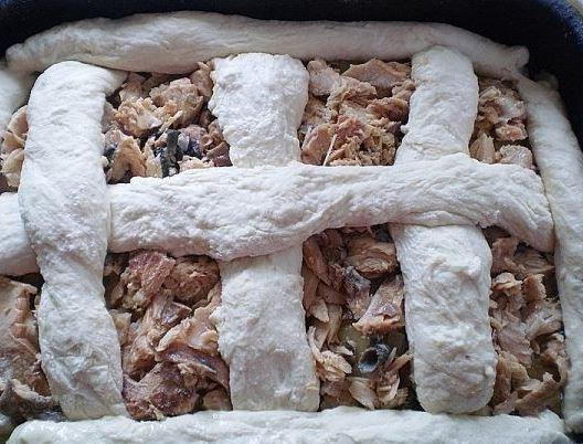 рецепт пирога с горбушей и сыром