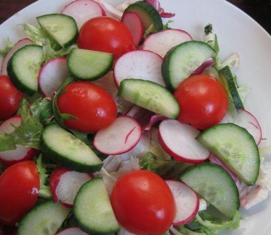 Рецепты салатов свежих овощей фото